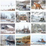 Postcard set winter