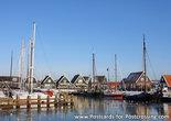 Postcard the harbor of Marken