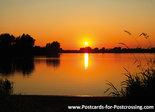 Postcard sunset Nederrijn in Wijk bij Duurstede