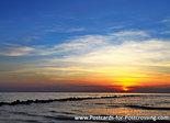 Postcard sunset Northsea