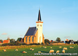 Postcard church den Hoorn