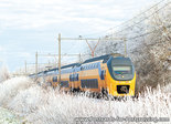Postcard NS train in winter