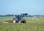 Postcard tractor NewHolland TM115