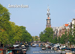 Postcard AmsterdamPrinsengracht and Westerkerk