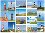 Postcard set lighthouses