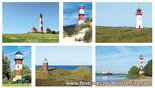 Postcard set German lighthouses