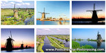 Postcard set Kinderdijk