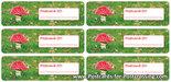 Postcrossing ID sticker mushroom
