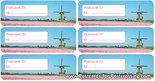 Postcard ID sticker mill