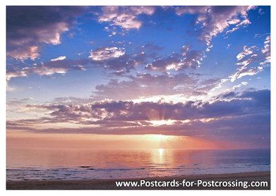 Postcard sunset North Sea