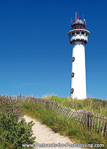 Egmond aan Zee - lighthouse postcard