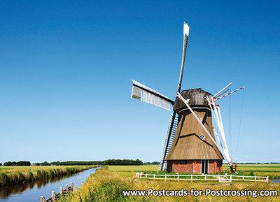 Postcard mill the Dellen in Nieuw-Scheemda