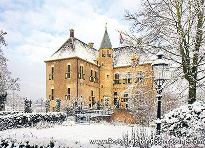 PostcardCastle Vorden in winter