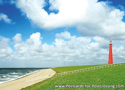 Postcard lighthouse the Long Jaap