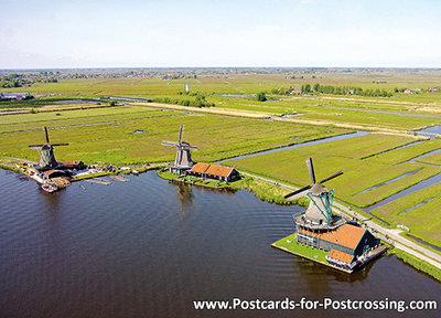 Postcard the Zaanse Schans inZaandam