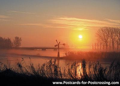 Postcard sunrise in winter