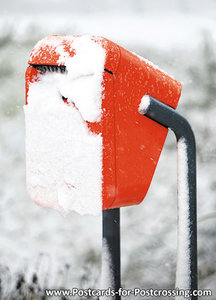 Dutch mailbox in the snow