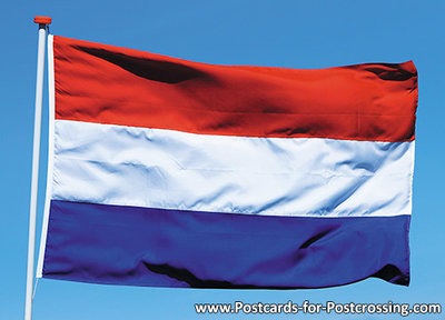Postcard flag of the Netherlands