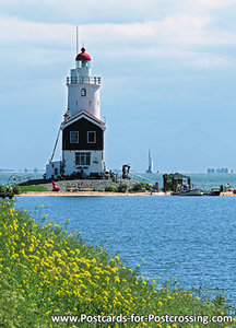 Postcard lighthouse Paard van Marken