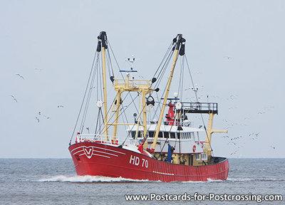 Postcard fishing boat