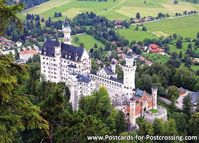 Postcard castleNeuschwanstein