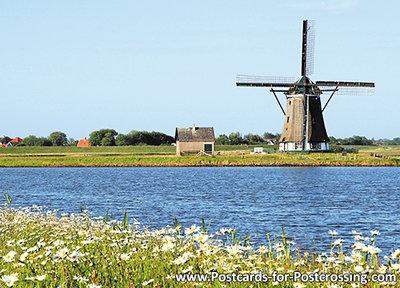 Postcard mill North on Texel