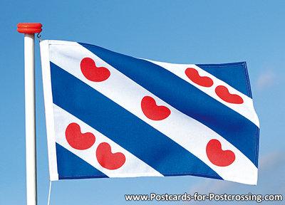 Postcard flag of Friesland