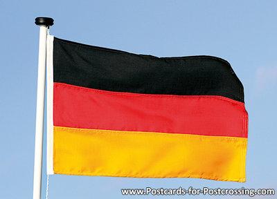 Postcard flag of Germany