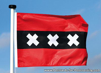 Postcard Flag of Amsterdam