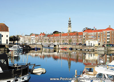 Postcard Middelburg with the Long Jan