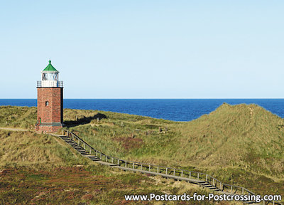 Postcard lighthouse Rotes Kliff