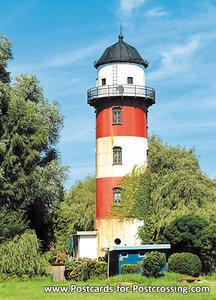 Postcard lighthouse Brinkamahof Bremerhaven