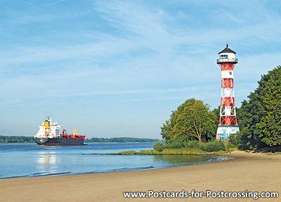 Postcard lighthouse Wittenbergen Hamburg