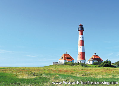 Postcard lighthouse Westerheversand