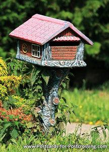 Postcard mailbox cottage