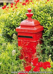 Postcard red mailbox