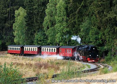 Postcard Selketalbahn in the Harz