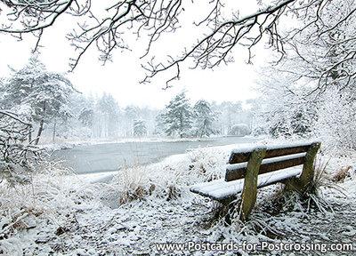 Postcard Freulevijver in winter