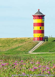 Postcard lighthouse Pilsum