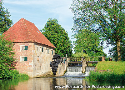 Postcard Watermill in Eibergen