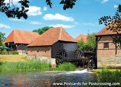 Postcard Oostendorper watermill in Haaksbergen