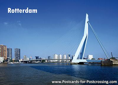 Erasmus bridge Rotterdam postcard