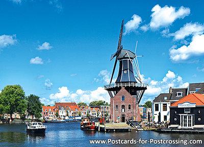 Postcard mill the Adriaan in Haarlem