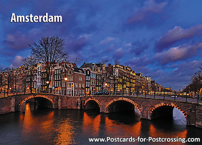 UNESCO postcard - Canals of Amsterdam