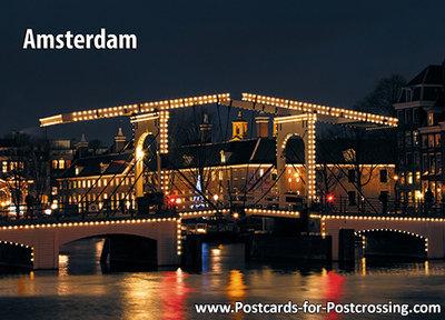 Postcard Amsterdam Skinny Bridge