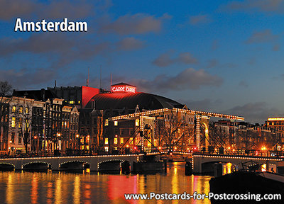 Postcard AmsterdamSkinny Bridge