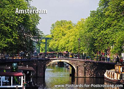 Unesco postcard Amsterdam canals