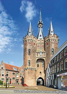 Postcard Zwolle -Sassenpoort