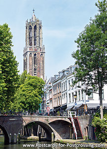Postcard Utrecht - Dom tower with Canals