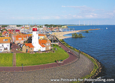 Postcard lighthouse Urk